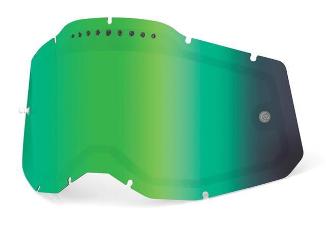 100% Vented Dual Ersatzscheiben Gen2 green/mirror